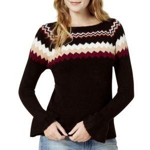 NWT Kenzie Geometric Fair Isle Sweater